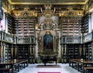 The University of Coimbra General Library, Coimbra, Portugal